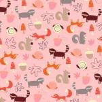 pink woodland print